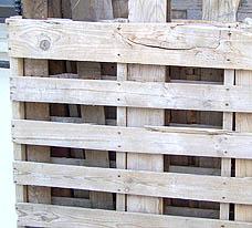 Fabricando una jardinera con palets for Listones de madera para palets