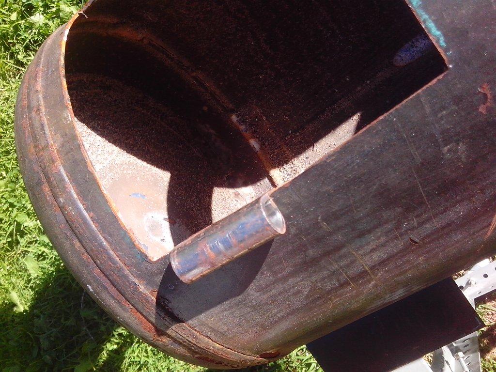 Rebaje para la bisagra de la puerta del horno de cilindro