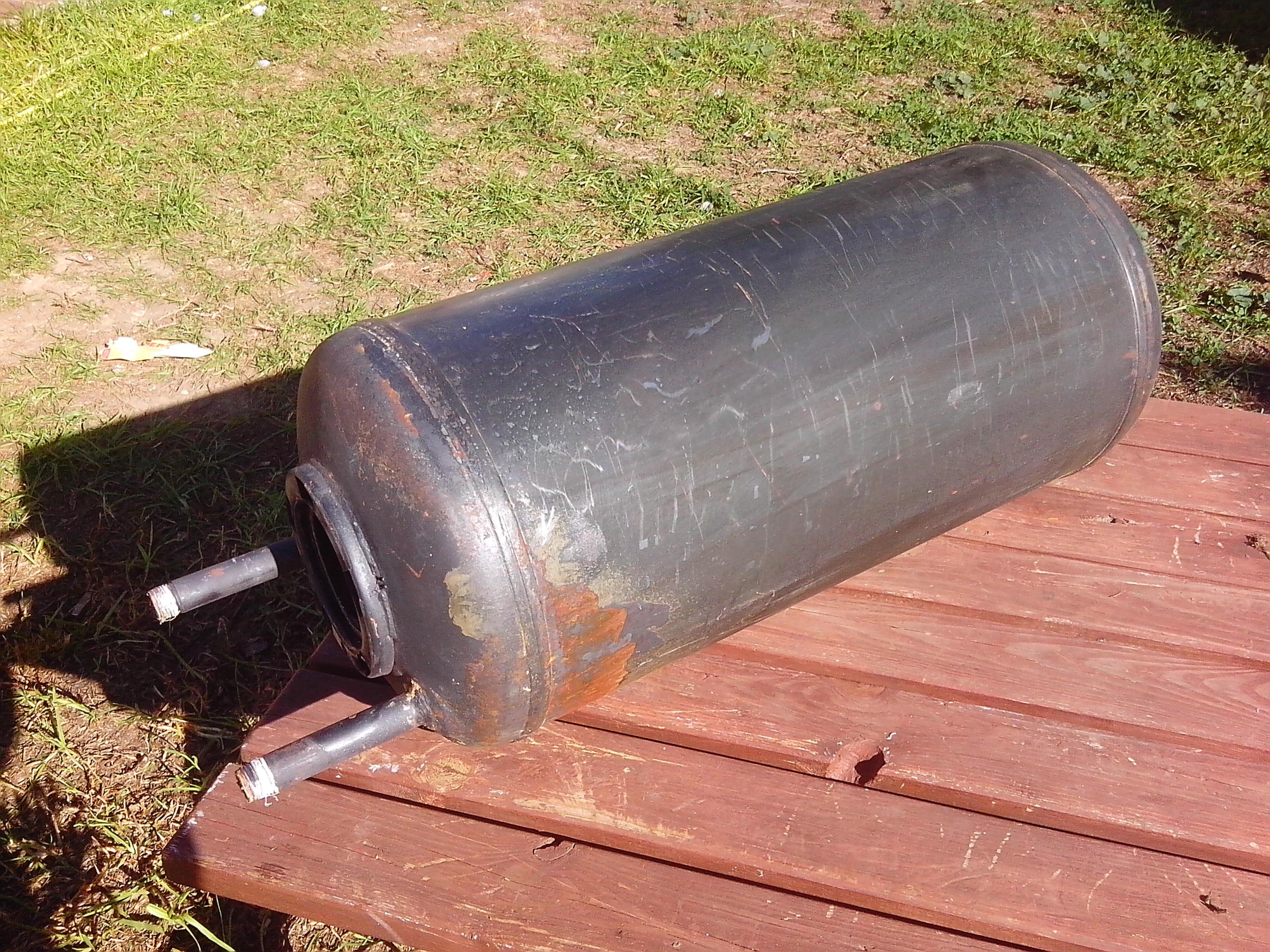 C mo fabricar un horno de cilindro casero artefactos - Acumulador de agua electrico ...