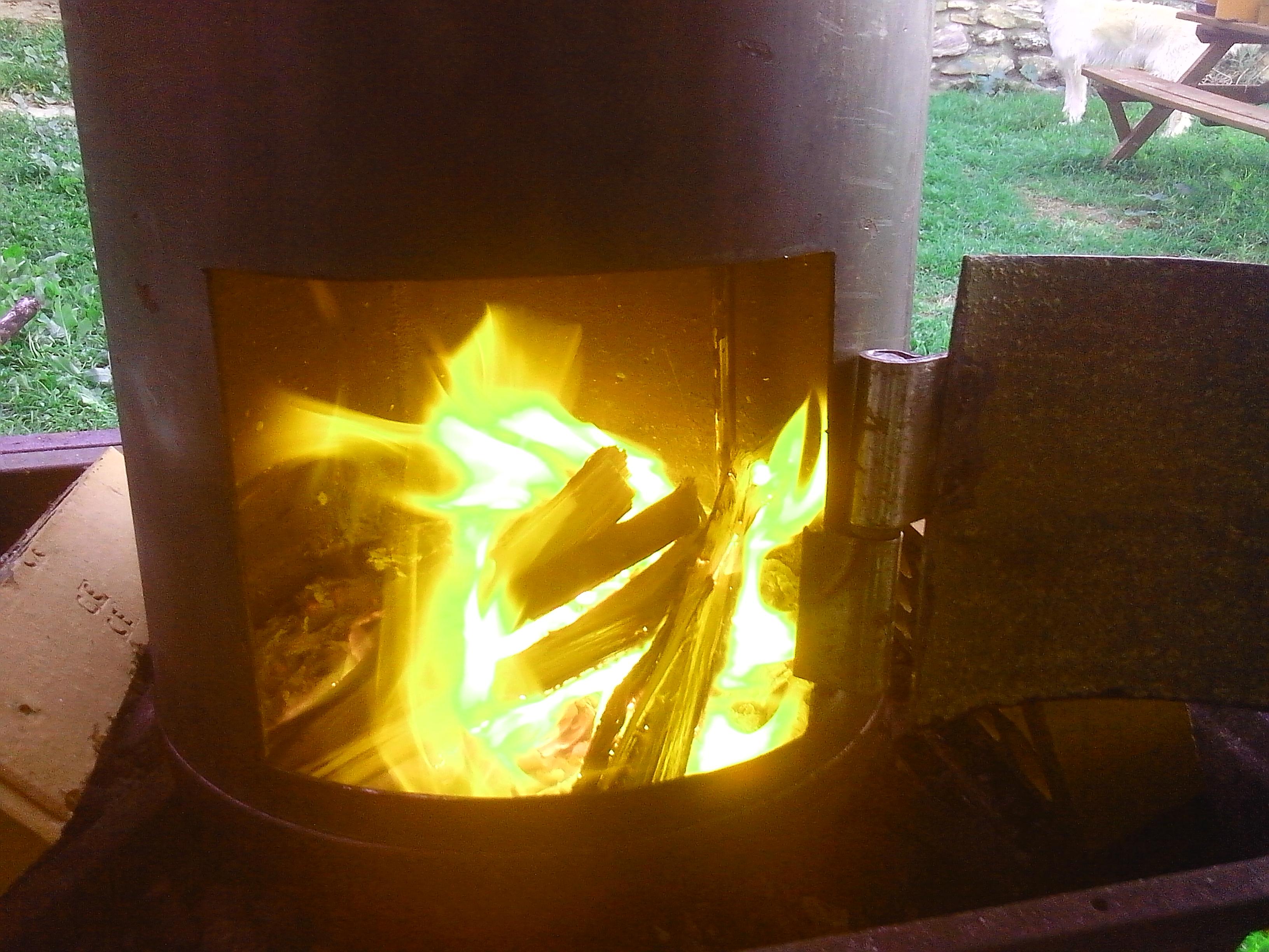 Horno de cilindro casero