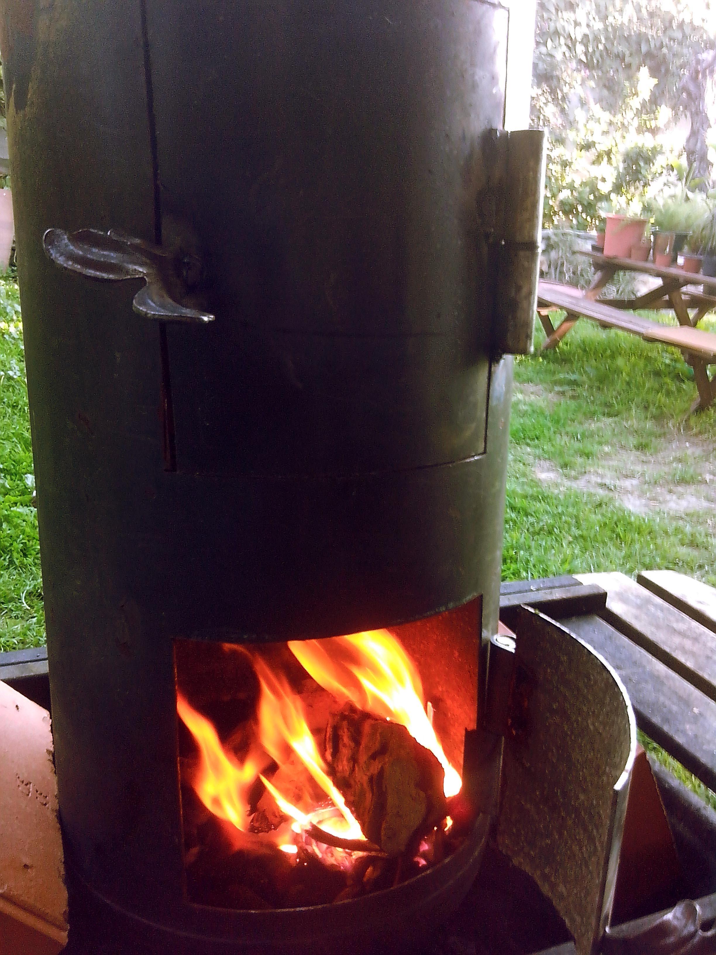 C mo fabricar un horno de cilindro casero - Horno casero de lena ...